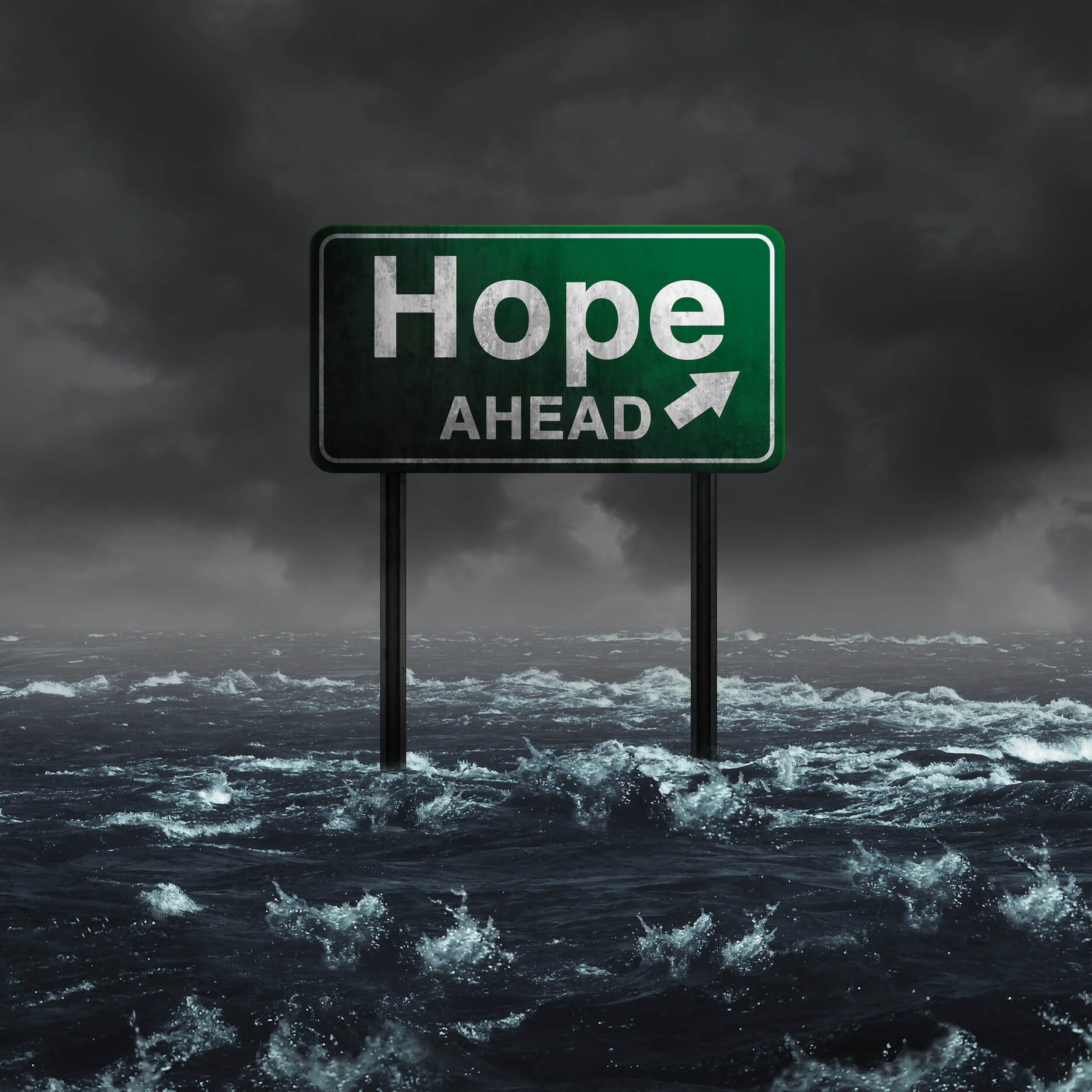 Hope Ahead Signboard